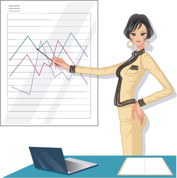 mujer trabajadora-presentacion-2 vector