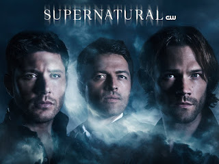 Supernatural starring Jared Padalecki and Jensen Ackles and Misha Collins
