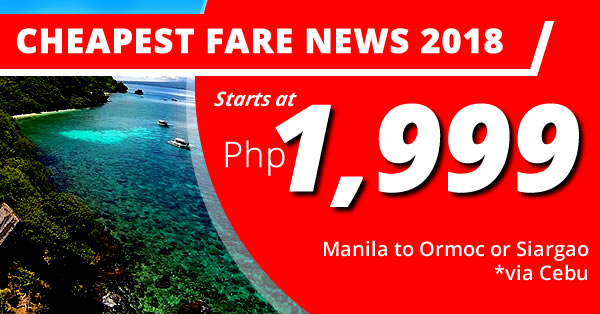cebu pacific low fare 2018