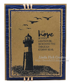 Linda Vich Creates: High Tide Hope. The High Tide stamp set is perfect for use on this multi-layered, highly textured, masculine card.