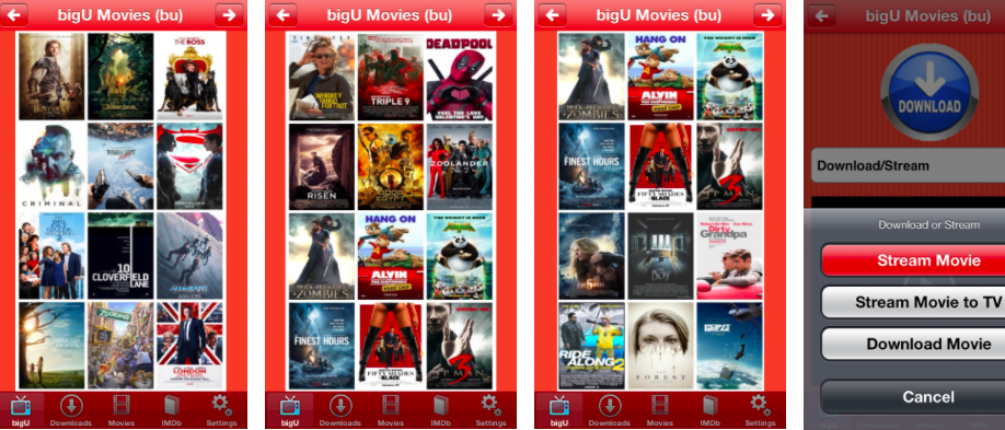 On movies app download