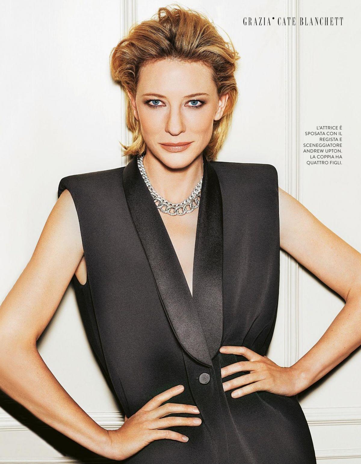 Cate Blanchett in Grazia Magazine, Italiy October 2017 Issue