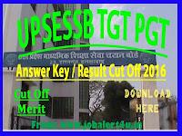 UPSESSB TGT PGT Exam Answer Key 2016 UPSESSB TGT PGT Result Cut Off