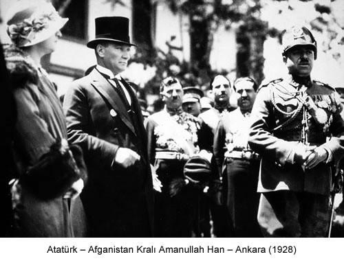 Atatürk Amanullah Han 1928 Fotoğraf