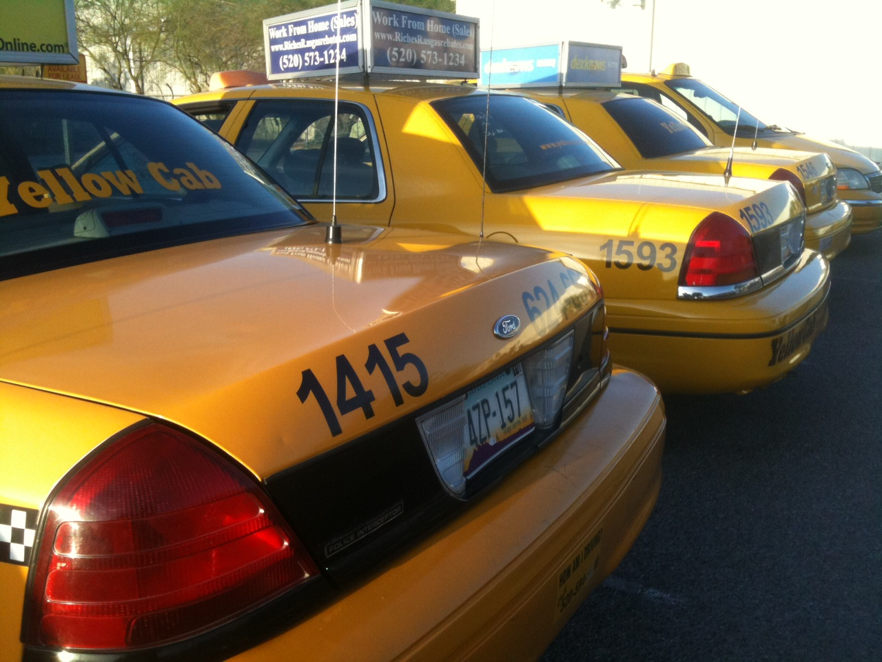 Yellow Cab Denver >> Tucson Cab Stand
