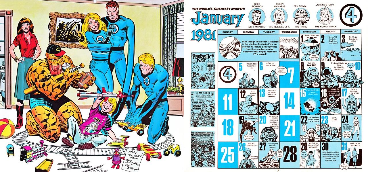 Internet S Best Secrets Use Marvel Comics 1985 Calendar For 2015