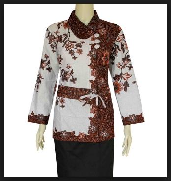 Baju batik watasan wanita untuk kerja