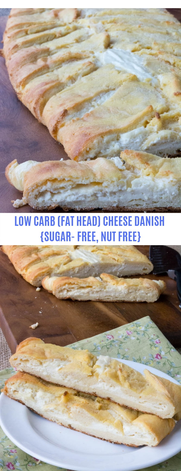 LOW CARB (FAT HEAD) CHEESE DANISH {SUGAR- FREE, NUT FREE