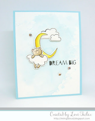 Dream Big card-designed by Lori Tecler/Inking Aloud-stamps and dies from WPlus9