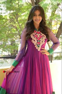Actress Pooja Jhaveri Latest Stills in Purple Salwar Kameezt at Dwaraka Success Meet  0037.JPG