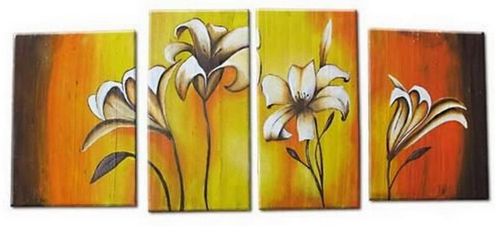 cuadros abstractos de flores en modelos trpticos con diseos de vanguardia y muy decorativos galera de cuadros modernos con flores