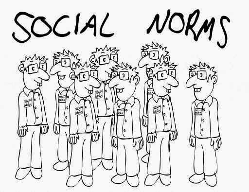 What do you mean by social norms and Discuss by giving