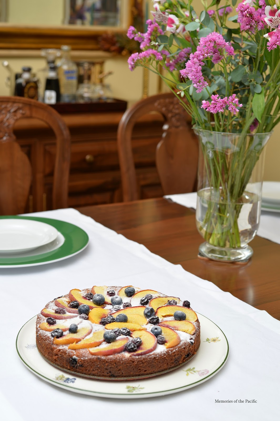 Peach, Blueberry & Greek Yogurt Cake Recipe