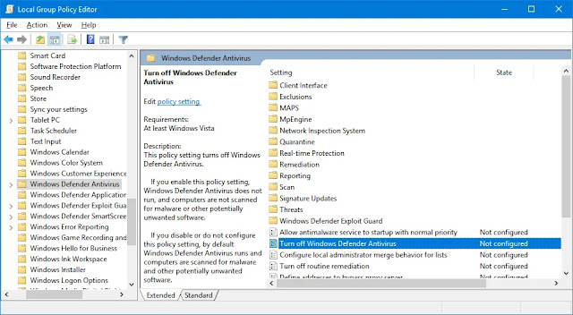 Mematikan Defender Permanen di Windows 10, Windows 8.1, Windows 7, Windows XP