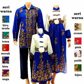 model baju batik sarimbit keluarga muslim