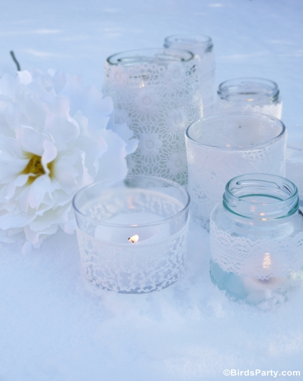 DIY Quick & Easy Lace Candle Holders