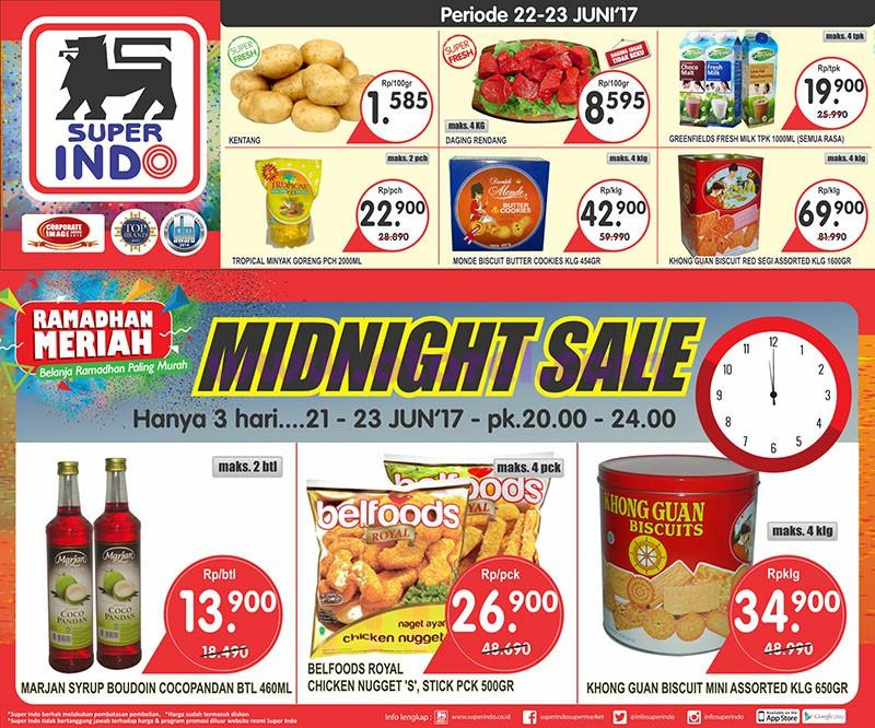 Katalog Superindo Promo Midnight Sale 21 – 23 Juni 2017