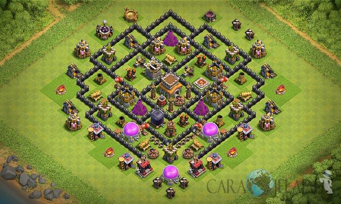 Base Trophy TH 8 di Clash Of Clans Terbaru Tipe 2