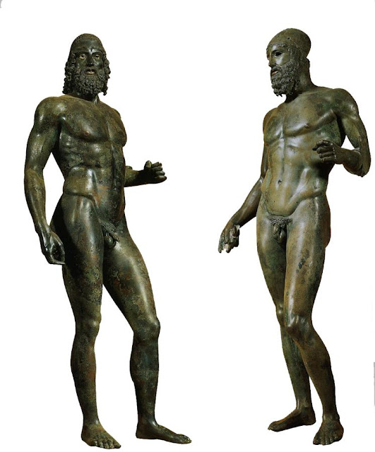 The Riace bronzes, housed in the National Museum of Reggio Calabria