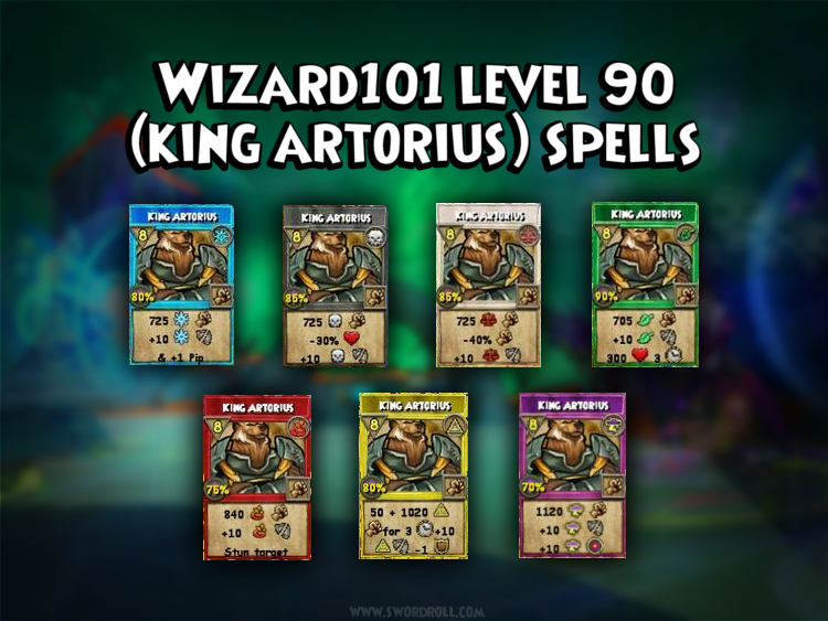 Wizard101 Khrysalis Level 90 Spells (King Artorius) *New 2013