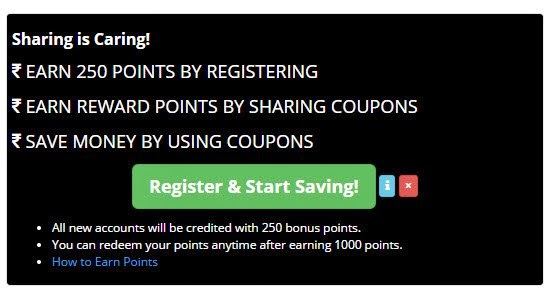 Earn 250 points for free