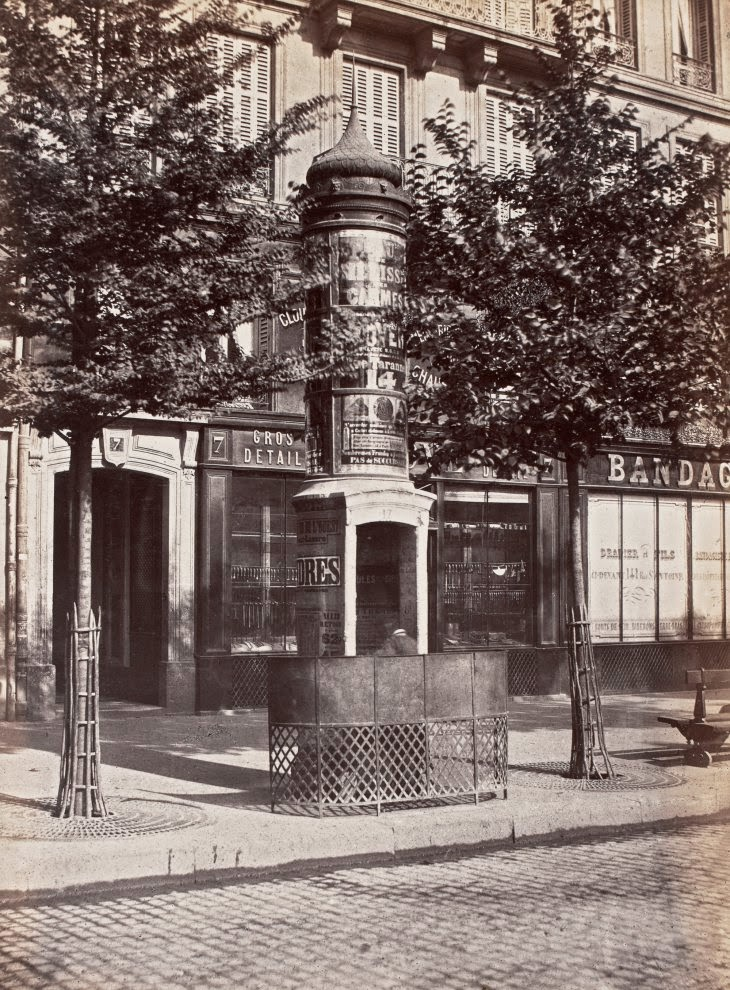Old Photos Of Public Urinals In Paris In The 19th Century