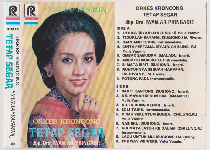 Heres A Funny One A Krontjong Cassette From Orkes Krontjong Tetap Segar Which Was Always Led By Brigadier General R Pirngadie But On This One Theyre Led