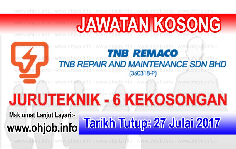 Jawatan Kerja Kosong TNB Repair and Maintenance Sdn Bhd logo www.ohjob.info julai 2017