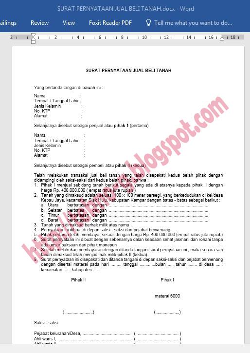 Download Contoh Surat Pernyataan Dengan Format Microsoft Word