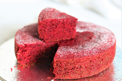 Healthy Kadai,Red velvet Cake,Red Velvet cake without oven,Red Velvet Cake Eggless