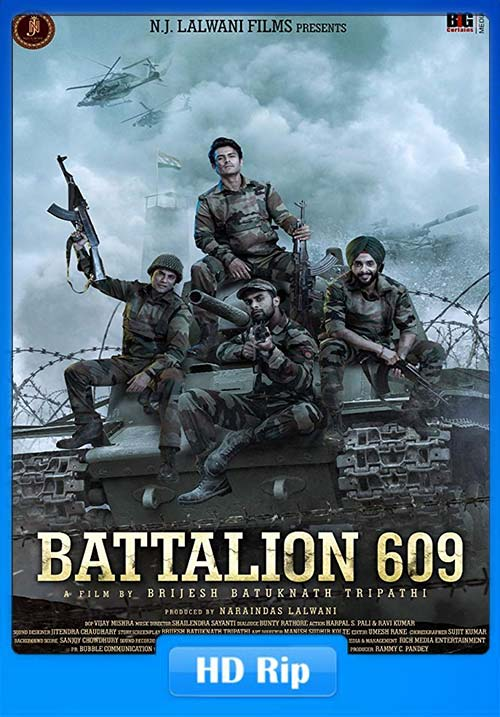 Battalion 609 2019 Hindi 720p HDRip x264 | 480p 300MB | 100MB HEVC