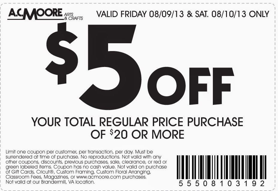 Ac moore coupons blogspot / Panties com coupon code