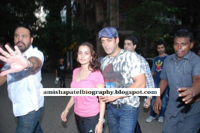 Amisha Patel and Salman Khan