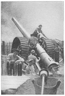 "This is a British BL 6 inch Gun Mk 7 on Mk. 2 carriage. Source: Francis W. Halsey, copyright 1919, ""The Literary History of the World War"", Volume III."
