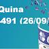 Resultado Quina - Concurso 4491 (26/09/17)