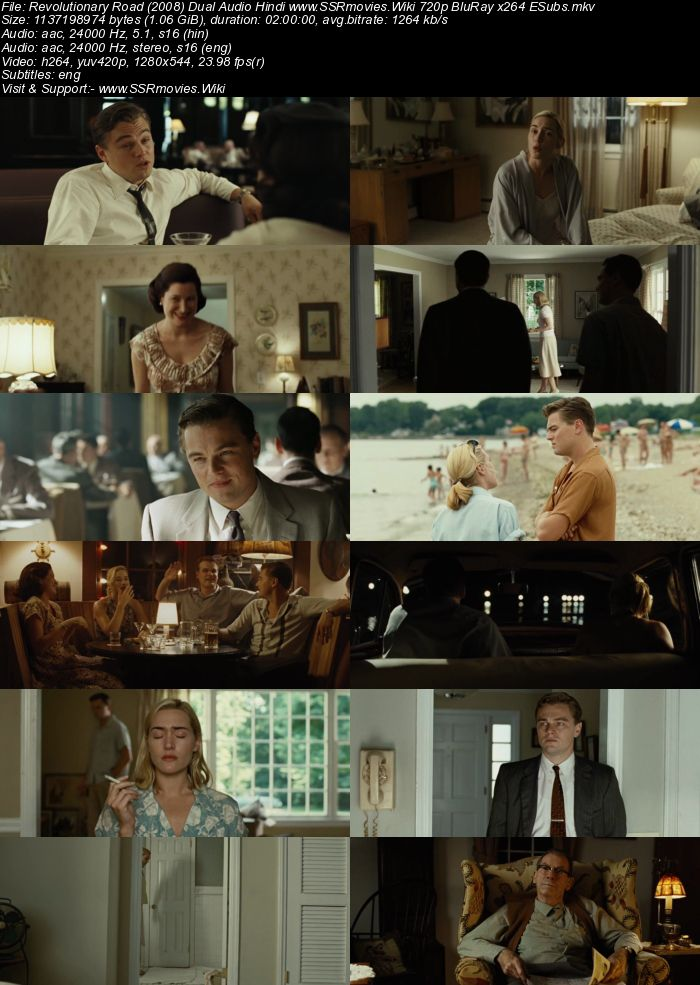 Revolutionary Road (2008) Dual Audio Hindi 480p BluRay 350MB ESubs Movie Download