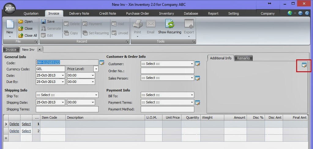 Xin Inventory - network invoice software create quotation, invoice