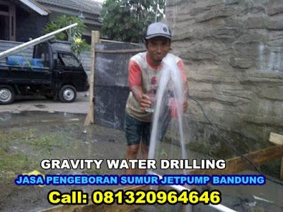 gravity water drilling ahli pengeboran air tanah di bandung