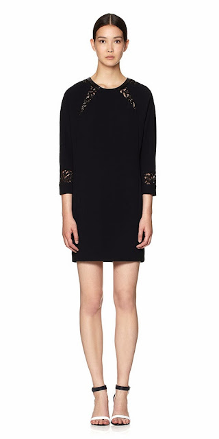Black Isabella Lace Insert Dress from Whistles