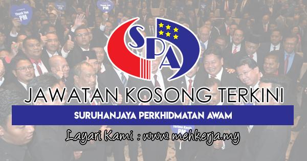 Jawatan Kosong Terkini di Suruhanjaya Perkhidmatan Awam Malaysia (SPA)