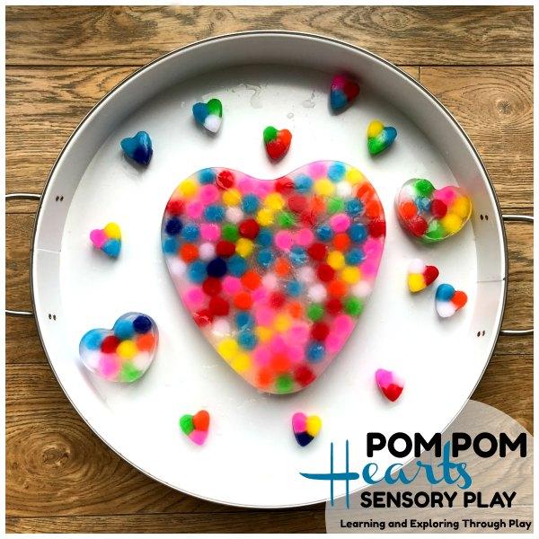 Frozen Pom Pom Hearts