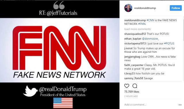 Donald Trump trolls CNN as FNN 'Fake News Network'