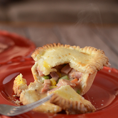 Cheese Ham Pot Pies, leftover ham, Easter, Big Green Egg ham