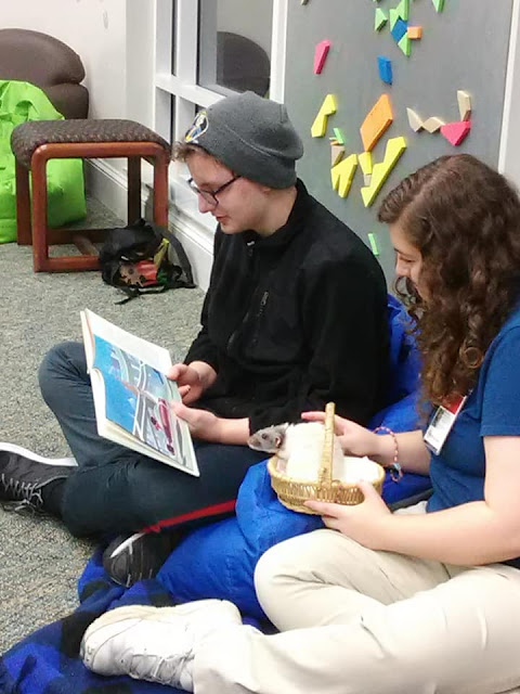 Vincent reading with kids