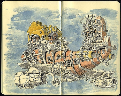 00-Mattias-Adolfsson-Surreal-Architectural-Moleskine-Drawings-www-designstack-co