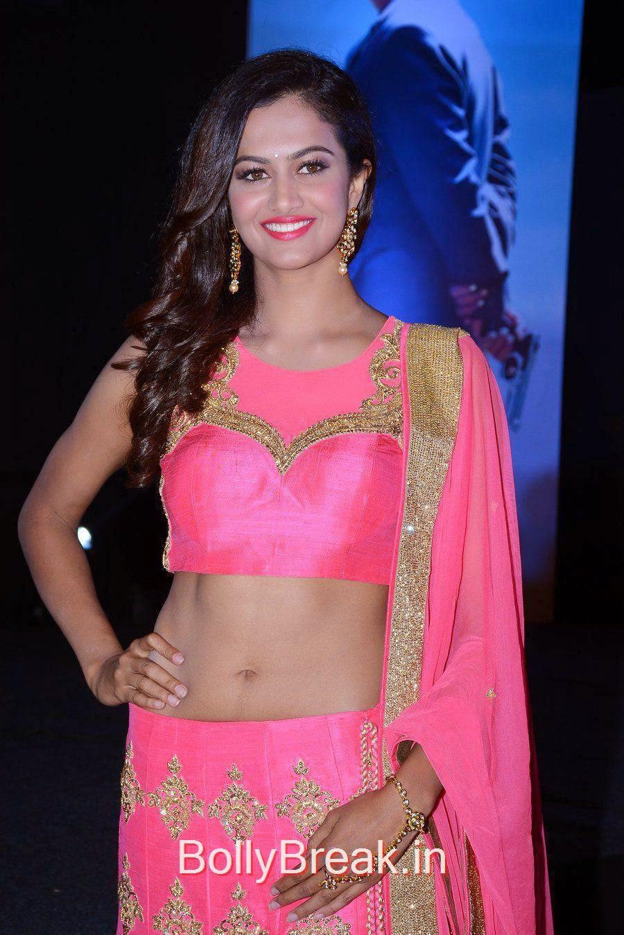 Shubra Aiyappa Pics in Pink Lehenga, Shubra Aiyappa Latest Hot Pics In Pink Lehenga from Sagaptham Movie Audio Launch