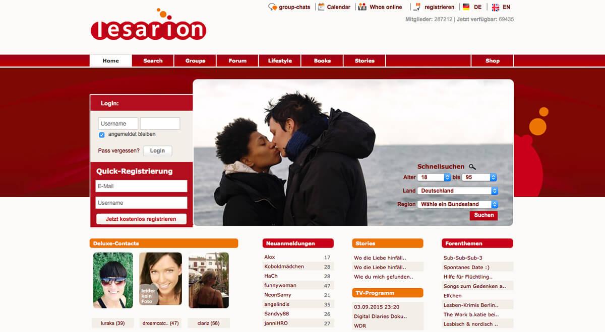 Heiße lesbische Website