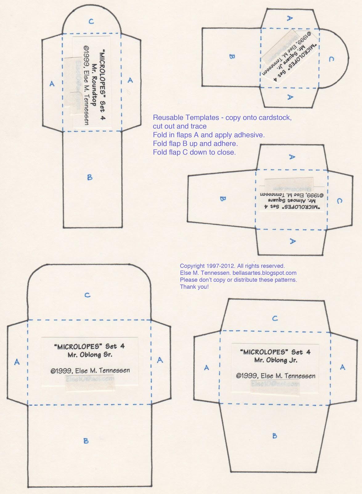 mini envelope template free