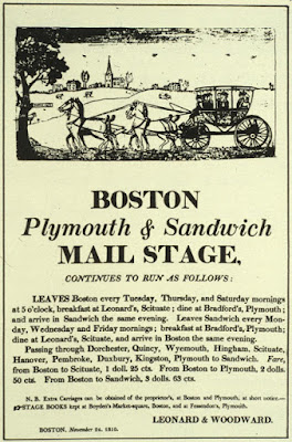 Boston Plymouth & Sandwich Mail Stage