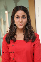 Actress Lavanya Tripathi Latest Pos in Red Dress at Radha Movie Success Meet .COM 0157.JPG